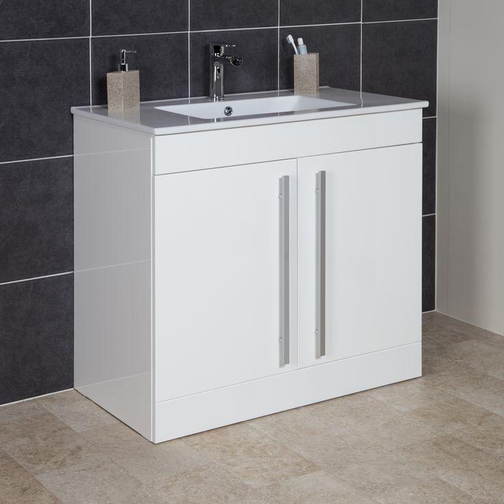 Icona Classic White Floor Standing Vanity Unit & Basin ...