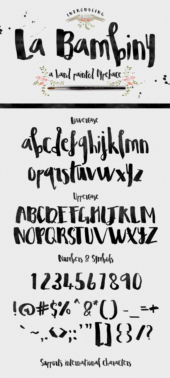 La Bambiny Typeface by Creativeqube Design on Creative Market