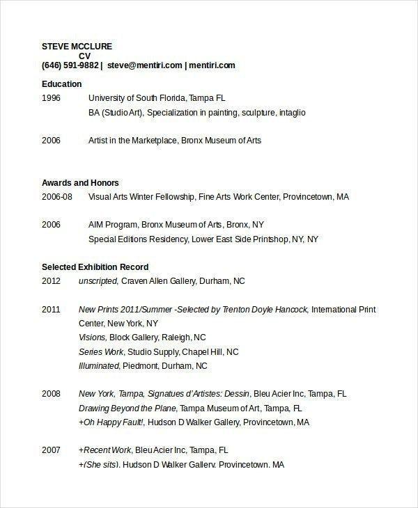 Artist Resume Template Template Artist Resume Resume Artist Resume Template In 2020 Downloadable Resume Template Cv Template Resume Template Examples