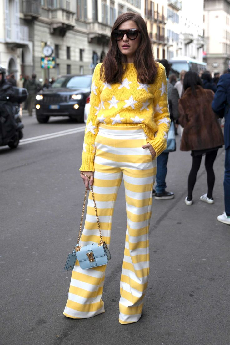 On the street at Milan Fashion Week. Photo: Emily Malan/Fashionista.