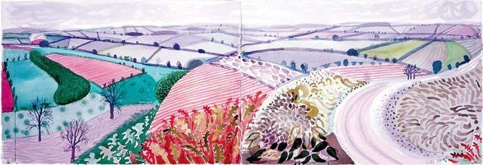 "David Hockney ""Hand Eye Heart"" Watercolors of the East Yorkshire Landscape"