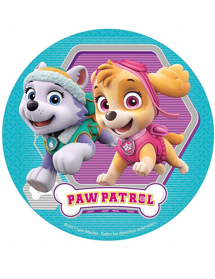 Disco de azúcar Patrulla Canina™ 16cm: Este papel de azúcar tiene licencia oficialPatrulla Canina.Mide alrededor de 16 cm.Everest y Stella aparecen dibujadas.Ingredientes: almidón modificado de maíz,...
