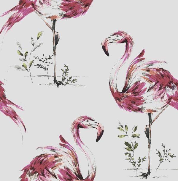 Flamingo Wallpaper-Hot Pink