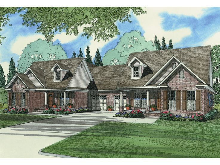 17 best images about duplex plans on pinterest house for House plans and more com home plans