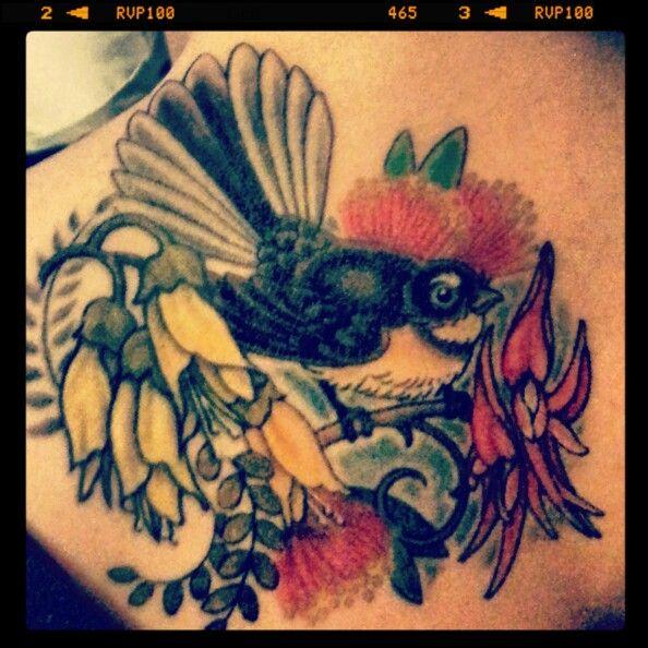 NZ Native Flower Tattoo