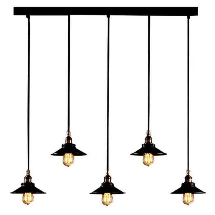 Hollie Industrial Edison Bulb Adjustable Pool Table Light - Gameroom Goodies Pool Table Lights