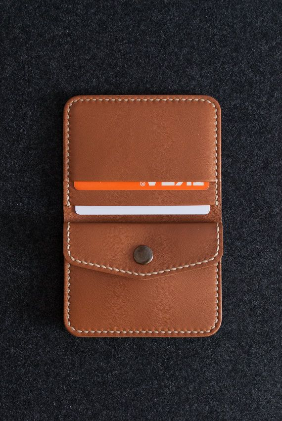 Leather bifold wallet made by WILKAMI