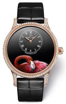 Jaquet Droz Petite Heure Minute Pink Flamingo