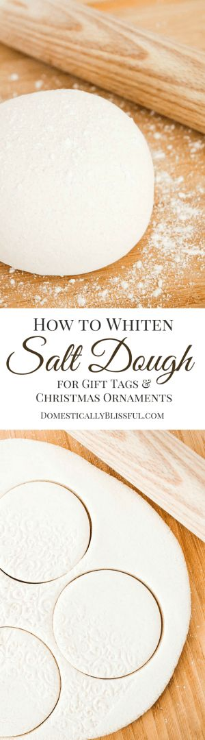 Make super white salt dough for handmade ornaments :-)