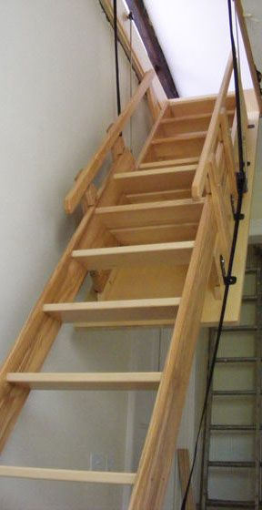 how to build retractable attic stairs