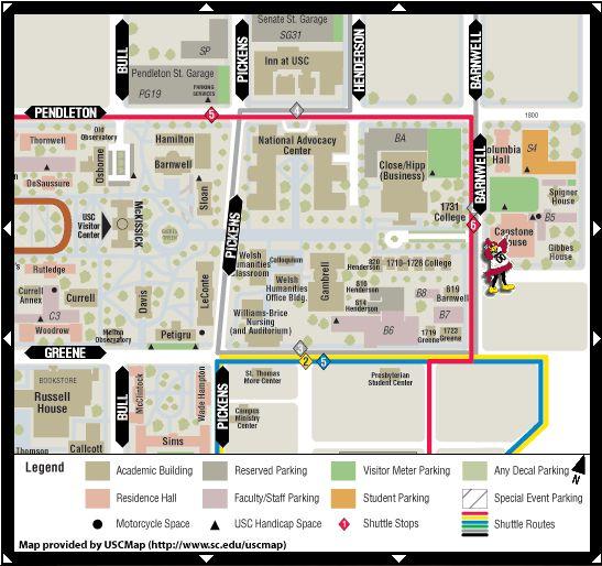 Usc campus map