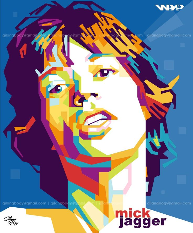 Mick Jagger in Wedha's Pop Art Portrait | Sir Michael Philip Jagger (born 26 July 1943) is an English musician, singer-songwriter and one time actor, best known as the lead vocalist and a founder member of The Rolling Stones | If you have any question, feel free to contact me on: gilangbogy@gmail.com