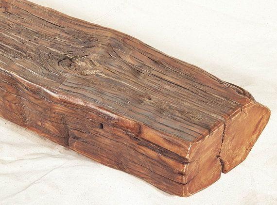 Fireplace Mantel Mantle Rustic Reclaimed Oak Farm Barn Beam Floating Shelf Made in USA