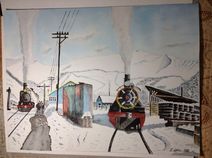 Trenes en cordillera de los Andes Araucania