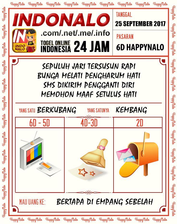 Wangsit 4D Togel Wap Online Kupon HappyNalo 25 September 2017