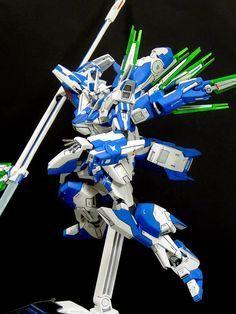 MODELER: Lee Zhen Yang   MODEL TITLE:  nu AGE Gundam   MODIFICATION TYPE:  kit bash, custom details, custom color scheme   KITS USED: HG 1...