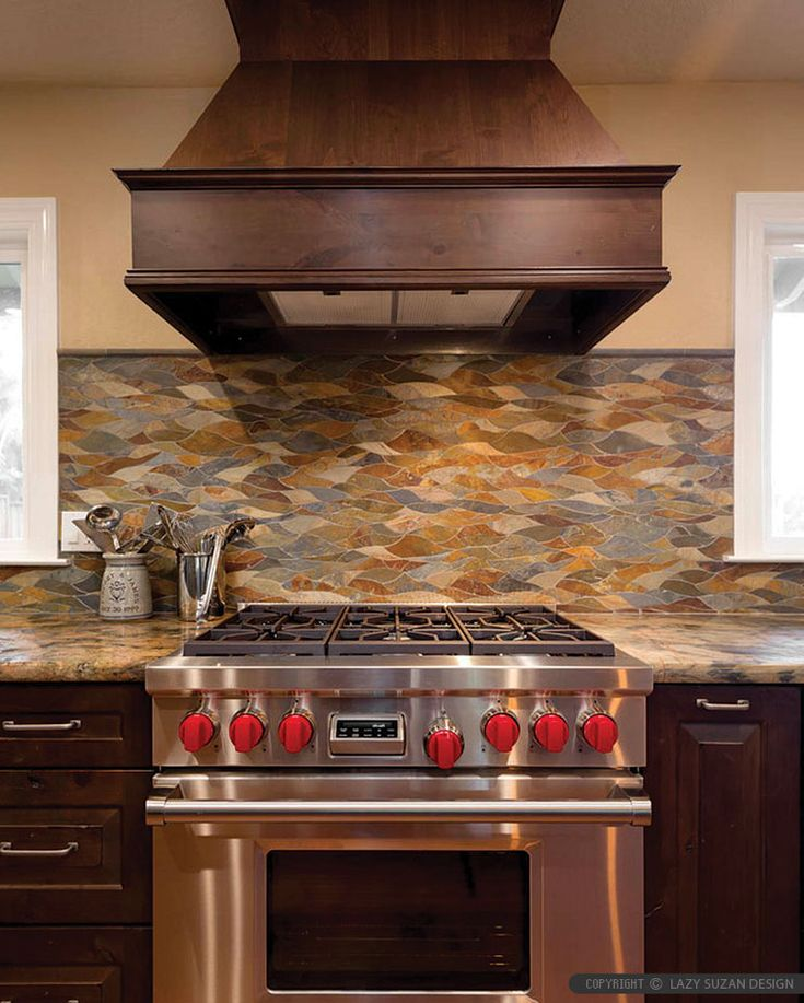 Kitchen Tile Backsplash Ideas With Maple Cabinets: 17 Best Ideas About Slate Backsplash On Pinterest