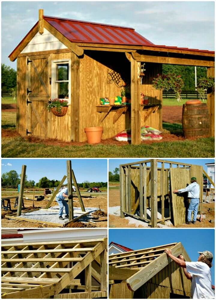 DIY Shed Plans - 36 Easy DIY Shed Designs for Your Home Pallet - Potting Shed Designs