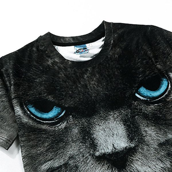 Fashion Creative Printing 3D Animal T-shirt Men's Leisure Short Sleeve T-shirt at Banggood