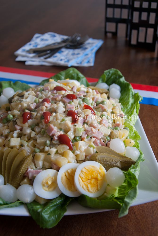 Dutch Potato Salad – Huzarensalade | Recipe | Potato Salad, Dutch ...