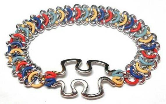 Autism Bracelet Chainmail Bracelet Chainmaille Bracelet