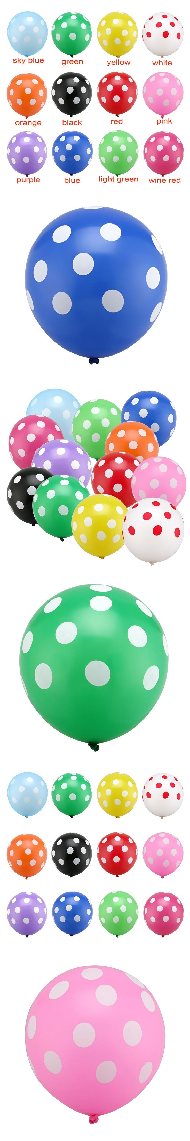 20pc 12 inch Latex Polka Dots Balloons Wedding Birthday Balloons Decoration Globos Party Ballon palloncini anniversaire Kid Toys