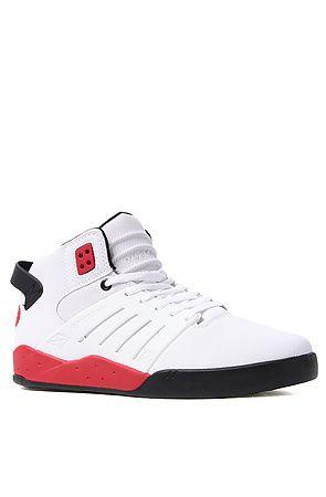 SUPRA – The Skytop III #Sneaker in White  Raptor TUF, Black, & Red Accents #SneakerOfTheDay