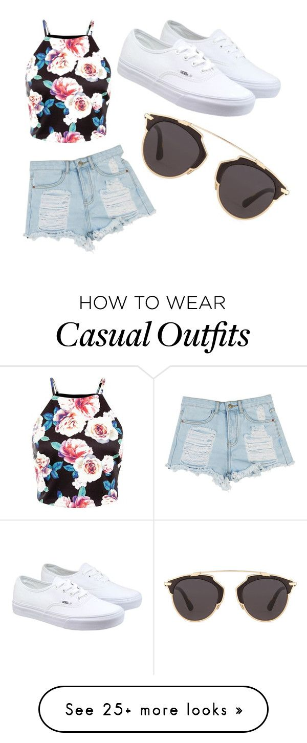 Beach or casual by mirandasing on Polyvore featuring Vans, Christian Dior, womens clothing, womens fashion, women, female, woman, misses and juniors