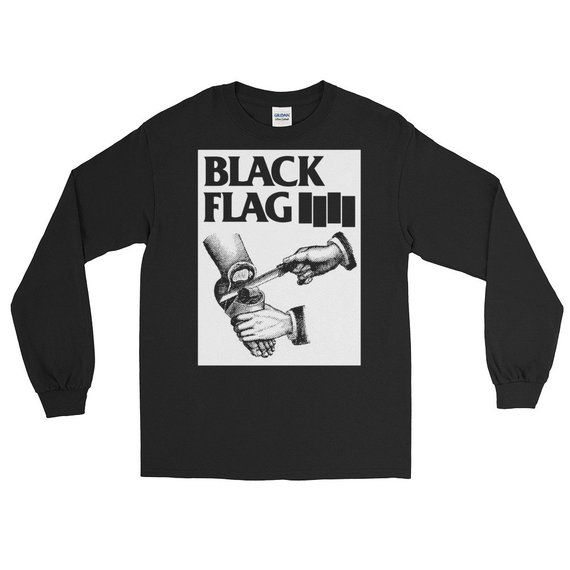 Black Flag Long Sleeve T Shirt Punk Shirt Punk Rock Punk