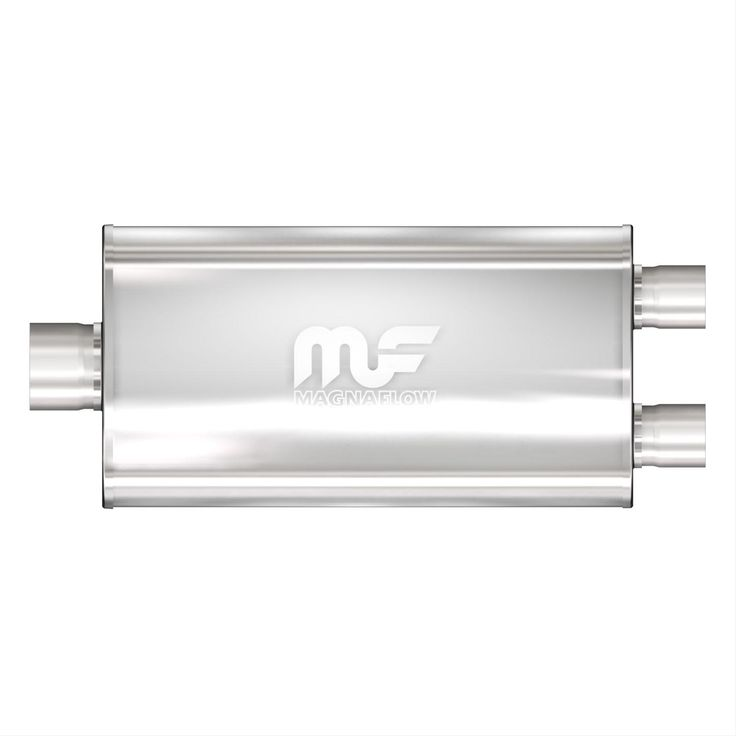 Find MagnaFlow Performance Mufflers 12580 These MagnaFlow performance mufflers are designed to give you more power and provide excellent sound. They feature a large-diameter, perforated stainless steel core and a straight-through design for unrestricted flow. They also have a stainless steel mesh for sound control and all-welded, lap-jointed contacts to avoid distortion or cracking at the seams. Find MagnaFlow Performance Mufflers 12580