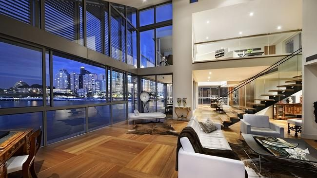 This waterfront penthouse on Pirrama Rd, Pyrmont, Sydney