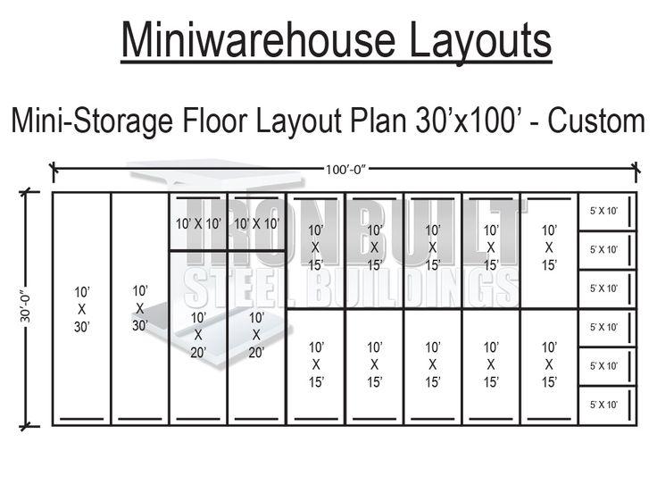 13 best self storage images on pinterest storage for Storage building floor plans