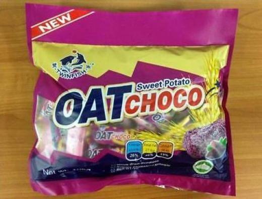 Twinfish Sweet Potato Original Oat Choco Crunchy Cereal Bars 400g Malaysia