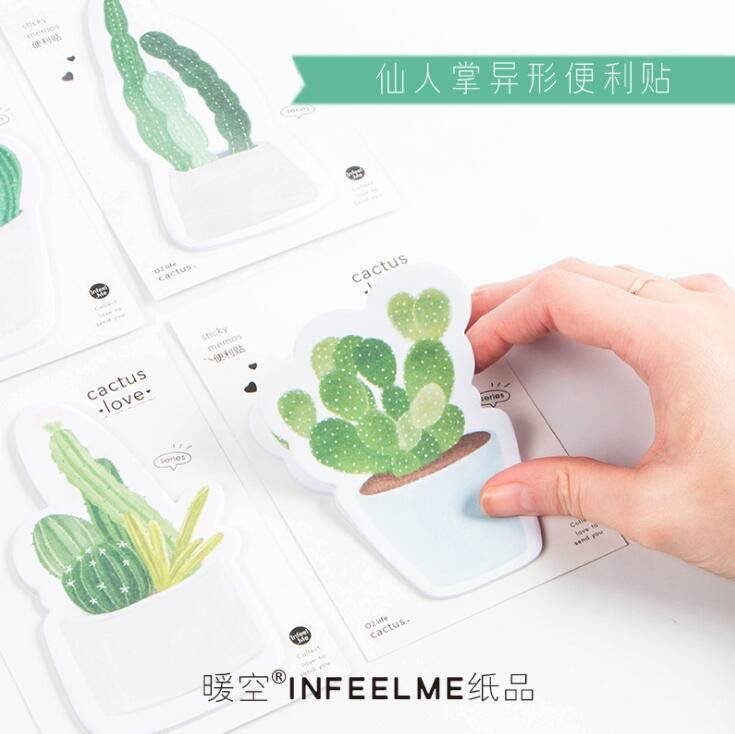 30 pages/pack Fresh Cactus Love Memo Pad Sticky Notes Memo Notebook Stationery Papelaria Escolar School Supplies