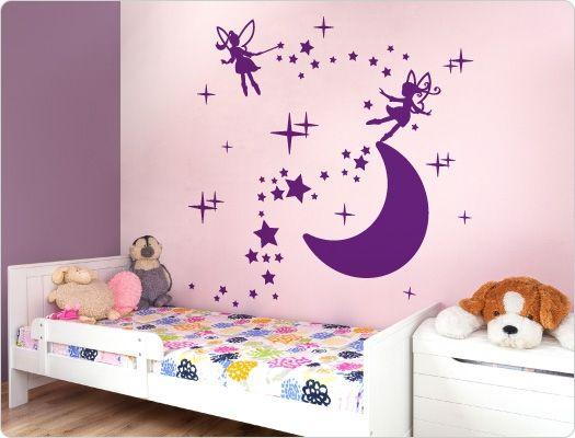 Best Kinderzimmer Wandtattoo Mond mit Elfenzauber Zauberhaftes Kinderzimmer Motiv f r sch nere W nde