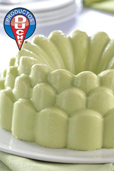 Gelatina de aguacate (avocado jello)