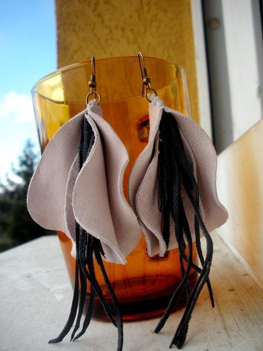 leather handmade earrings