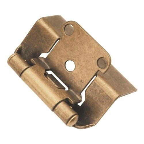 Hickory Hardware P5710F Package of 2 Full Wrap Self Closing Hinges (Polished brass)