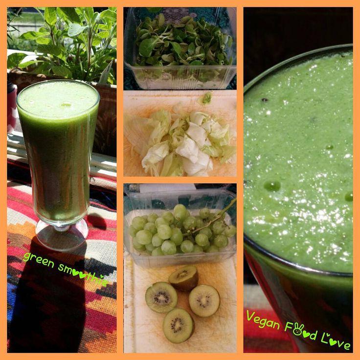 Green smoothie #greensmoothie #greens #vegansmoothie #vegan #veganfoodlove