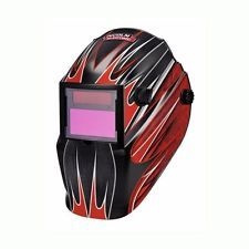 Lincoln Electric Red Fierce Variable-Shade Auto-Darkening Welding Helmet New
