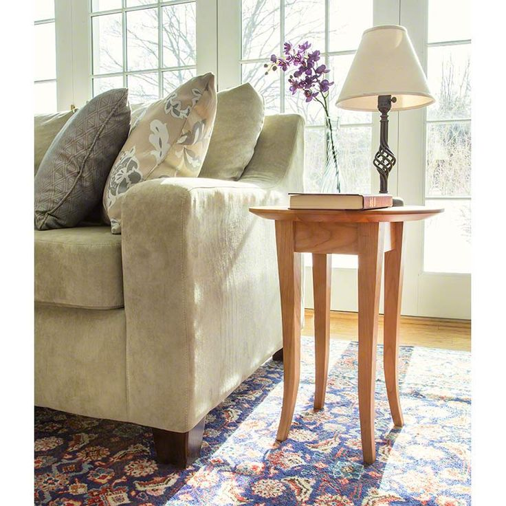 Classic Shaker Round End Table With Flare Legs. Find More Beautiful  Occasional Tables Like This