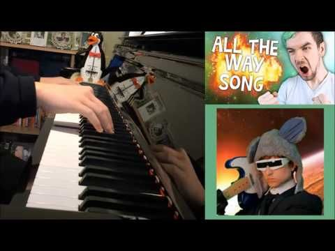 Jacksepticeye all the way songify remix by schmoyoho piano cover