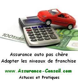 Assurance auto pas cher - Adapter les Franchises