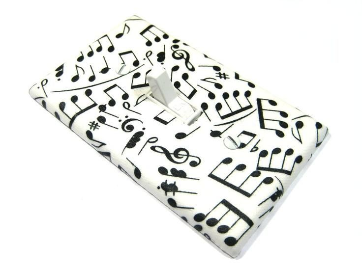 12 best light switch covers images on pinterest light switches items similar to black and white sheet music notes light switch cover musical notes nursery decor switchplate switch plate musician gift on etsy sciox Gallery