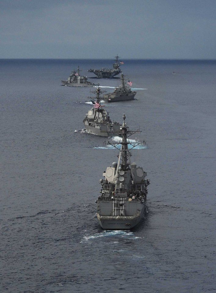 USS Theodore Roosevelt leads the fleet!