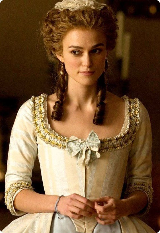 "Keira Knightley portrays the character of Georgiana Cavendish in the movie ""The Duchess""......."