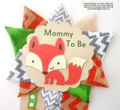 Fox Baby Shower Corsage or Woodland Animals Baby Shower Corsage Mum Pin #foxbabyshower #woodlandanimals #babyshower