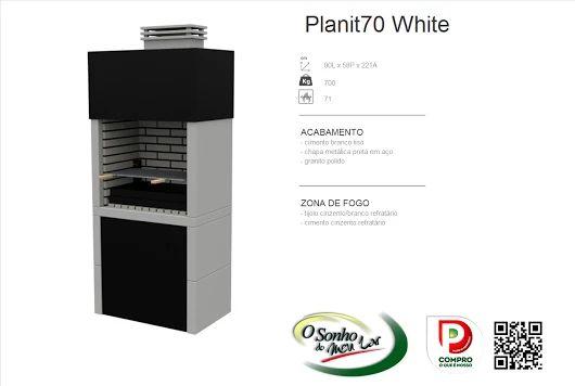 Churrasqueira Modelo  PLANIT70 WHITE
