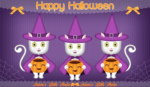 Happy Halloween Cute Animation Video eCard of a Cute Witch Cat. ~ candy ~ costumes ~ cartoon ~ pumpkin ~ jack o lantern ~ kitty ~ kitten ~ ribbon ~ trick or treat ~ greetings ~ cards ~ funny ~ witches ~ wishes ~ ecards ~kids