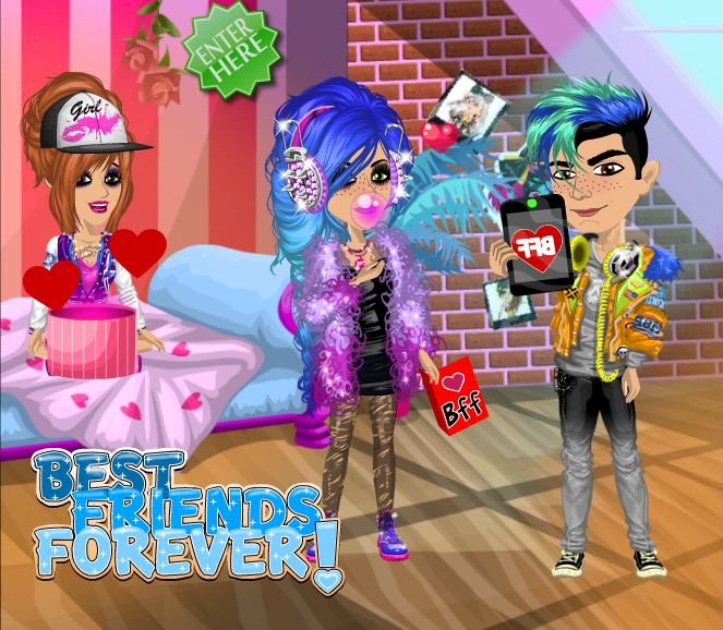 Best friends forever #BFF #moviestarplanet #MSP www.moviestarplanet.com